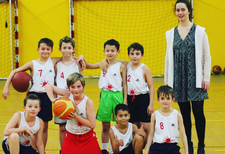 Equipe U11 M2 avec le coach Marie